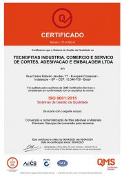 Certificado ISO9001 Tecnofitas